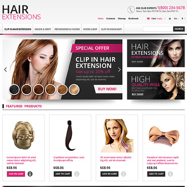 Hair Prestashop Themes 45167