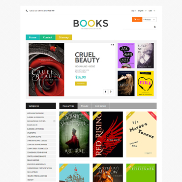 Books Prestashop Themes 48977