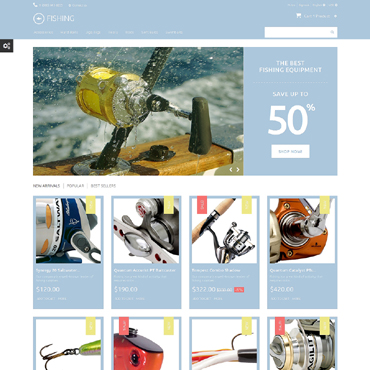 Fishing Prestashop Themes 49065