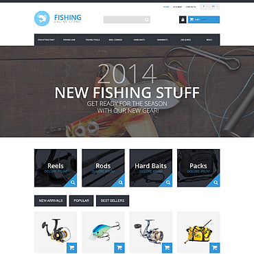 Fishing Prestashop Themes 50905