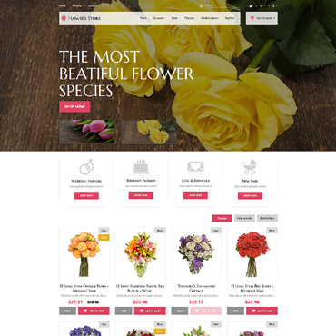Flower Prestashop Themes 52387