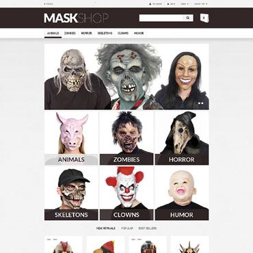 Theme Prestashop Masque E-commerce 52625
