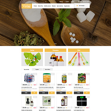 Supplements Prestashop Themes 52915