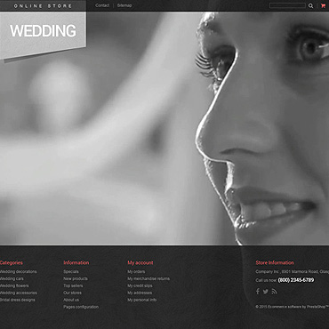 Wedding Prestashop Themes 53047