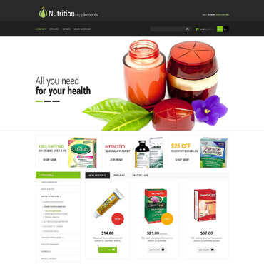 Nutrition Prestashop Themes 53135