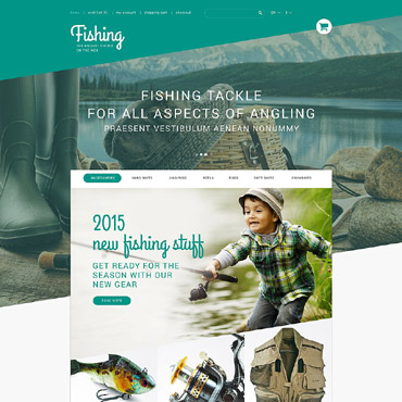 Fishing Prestashop Themes 53546
