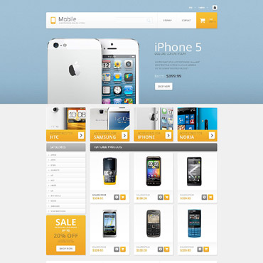 Mobile Prestashop Themes 53756