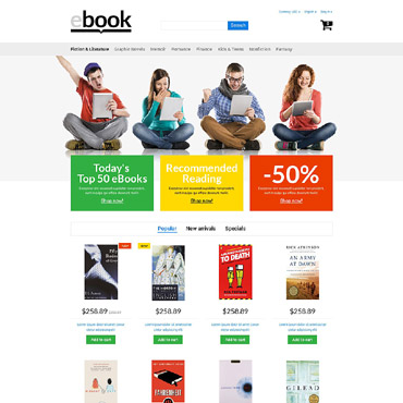 Ebooks Prestashop Themes 53956