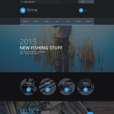 Fishing Prestashop Themes 54826