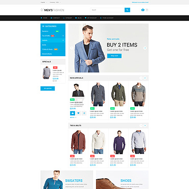 Men's Prestashop Themes 55281