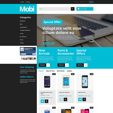 Mobile Prestashop Themes 55488