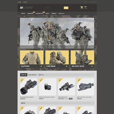 Theme Prestashop Military E-boutique 57689