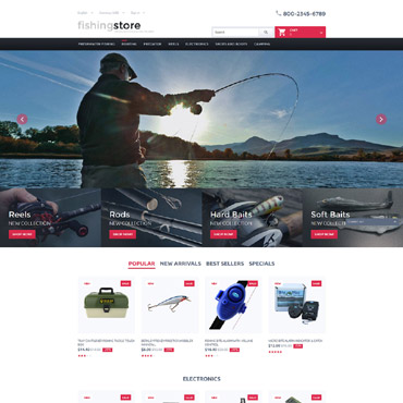 Fishing Prestashop Themes 57840