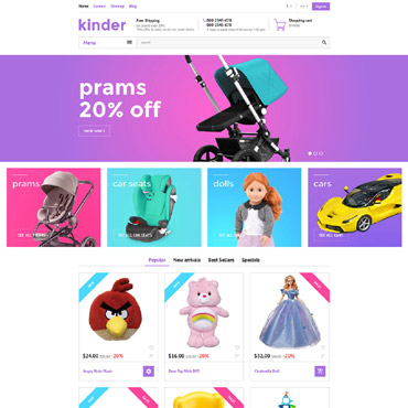 Kinder Prestashop Themes 58384