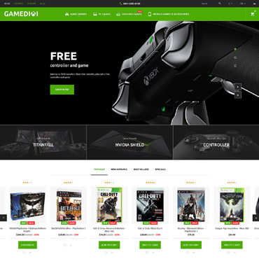 Gamedixi Prestashop Themes 60014