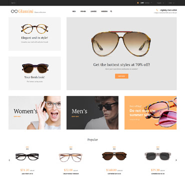 Glassini Prestashop Themes 62279