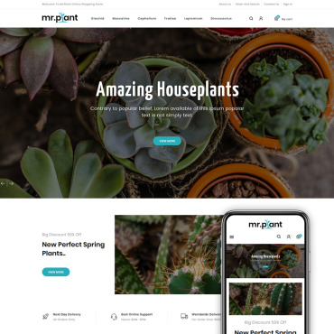 Plants Prestashop Themes 82551
