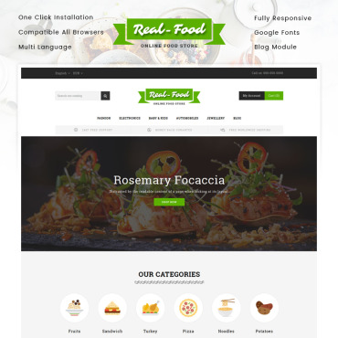 Food Prestashop Themes 84031