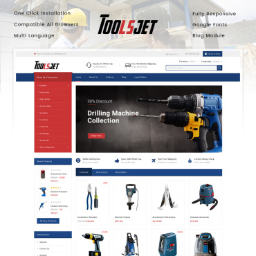Theme Prestashop Tools Auto 86161