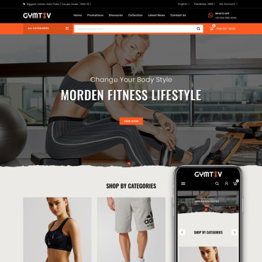 Gym Prestashop Themes 86684
