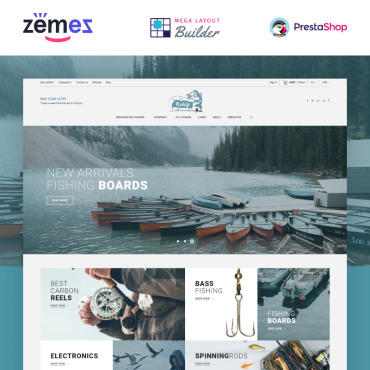 Theme Prestashop Fishman Camping 86744