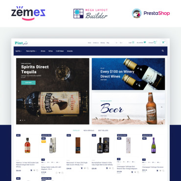 Spirits Prestashop Themes 87171