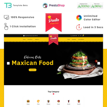 Food Prestashop Themes 87910
