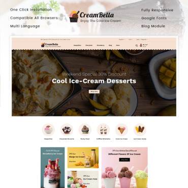 Icecream Prestashop Themes 89682