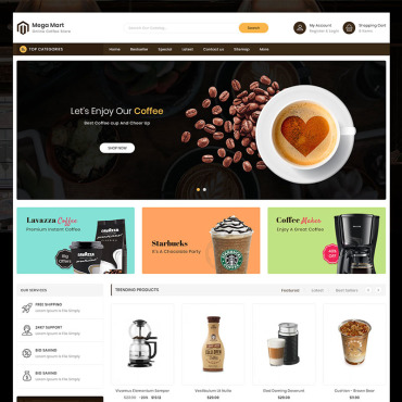 Coffee Prestashop Themes 91591