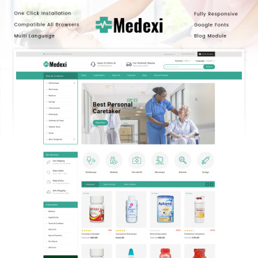Theme Prestashop Drug Comprimé 91784