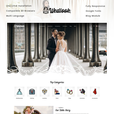 Theme Prestashop Wedding Nuptial 91960