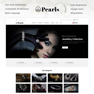 Jewelry Prestashop Themes 94381
