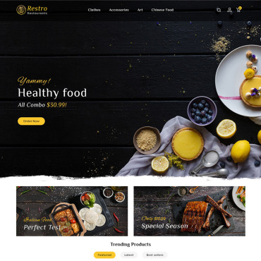 Restaurant Prestashop Themes 96817